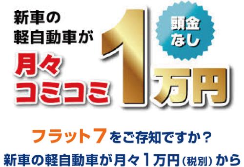 新車の軽自動車が月々コミコミ1万円