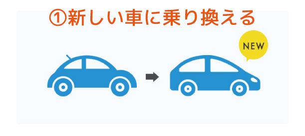 新しい車に乗り換える